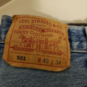 Levi's Jeans - Men's Button Fly Levi 501 40 x 34